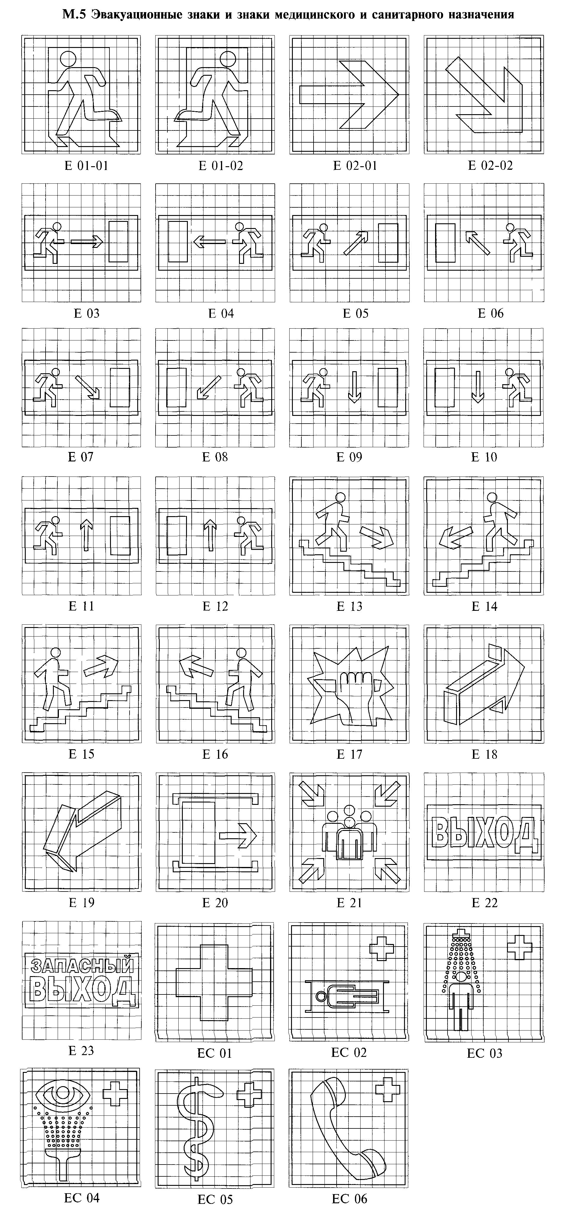 РИСУНОК. М.5. К ГОСТ Р 12.4.026-2001