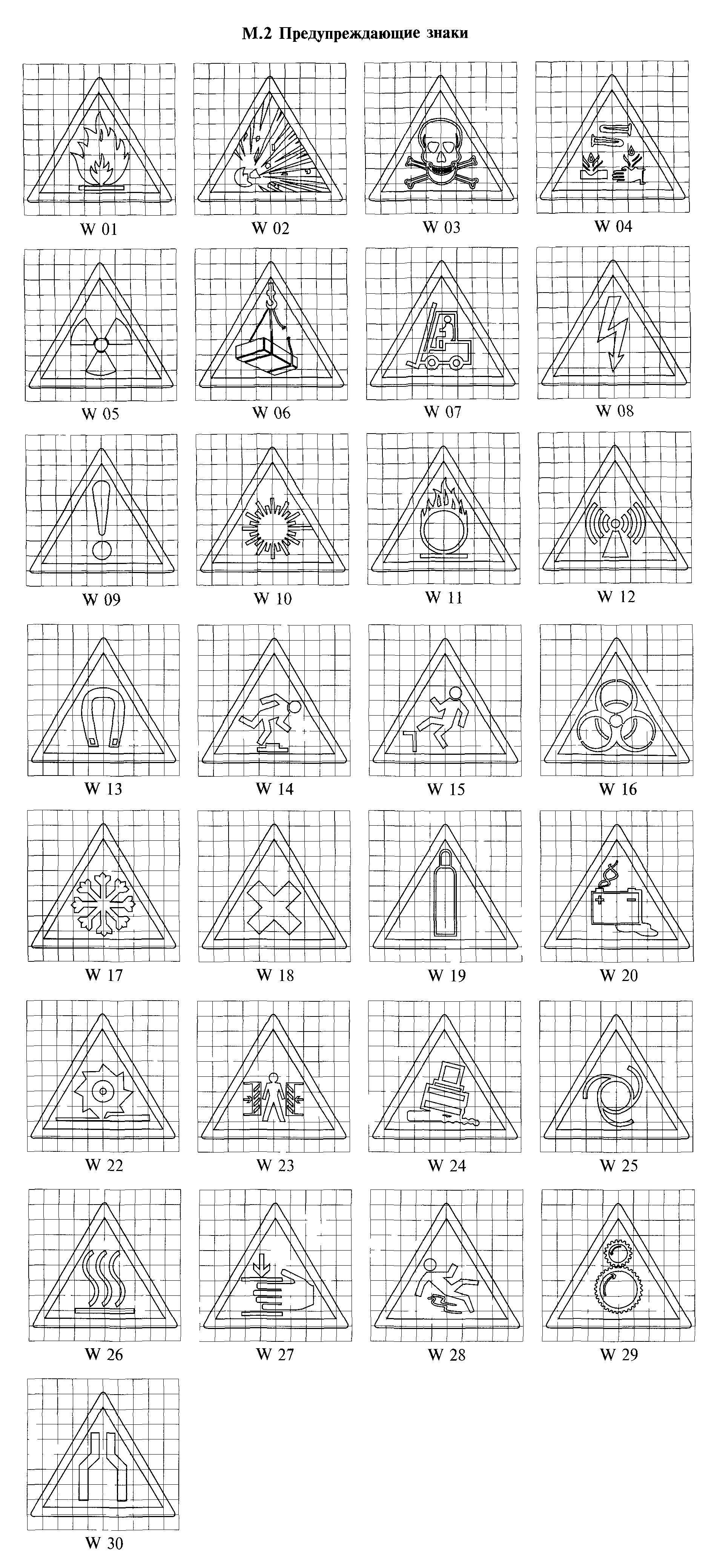 РИСУНОК М.2. К ГОСТ Р 12.4.026-2001