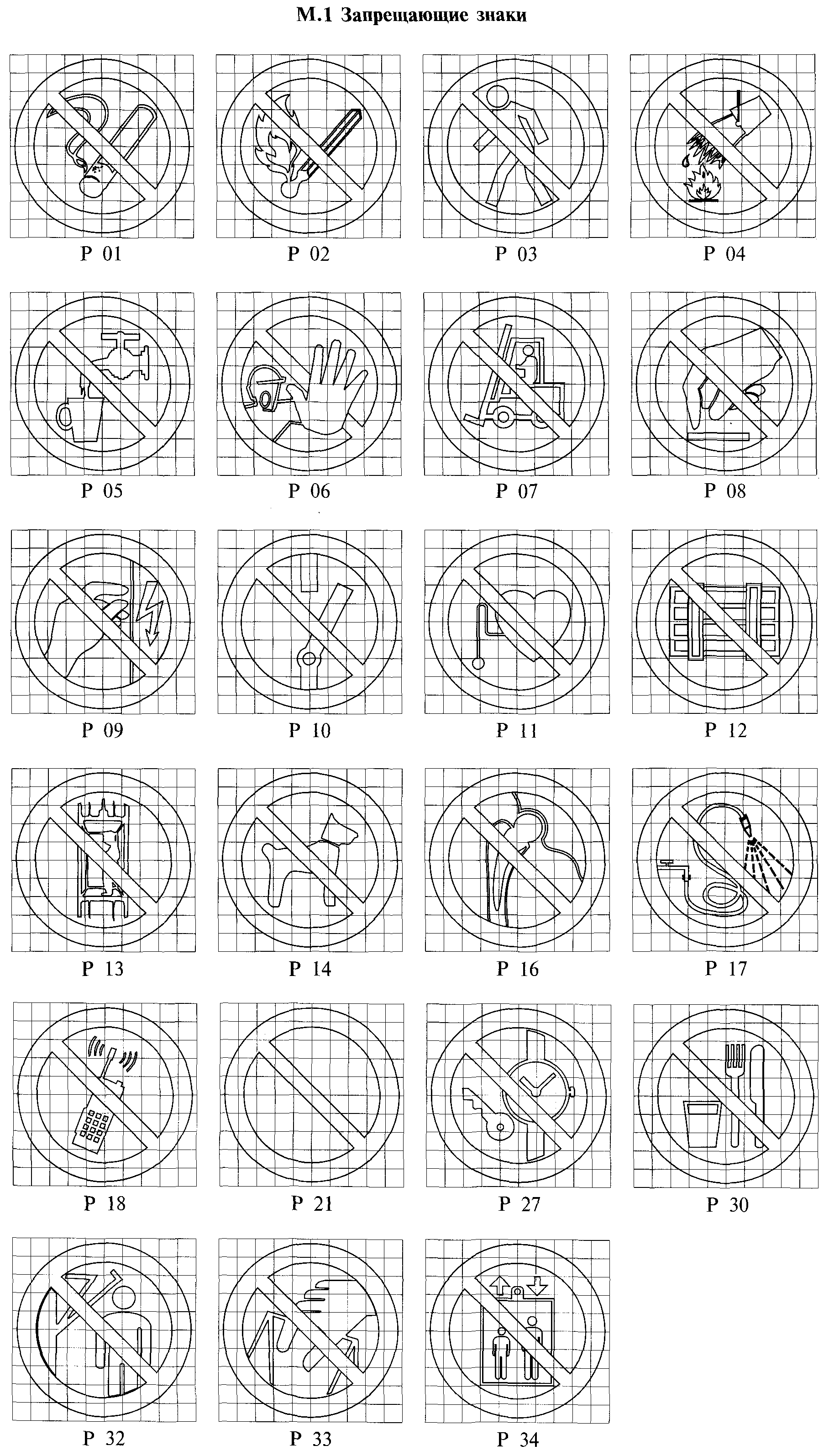 РИСУНОК М.1. К ГОСТ Р 12.4.026-2001